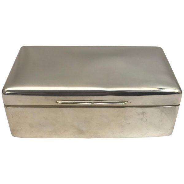 Sterling silver jewellery box