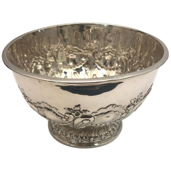 Antique English Sterling Silver Bowl, 1907