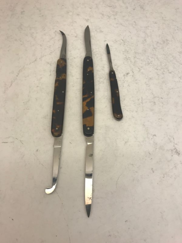 A collection of surgical instruments by Weiss, A major surgical instrument maker