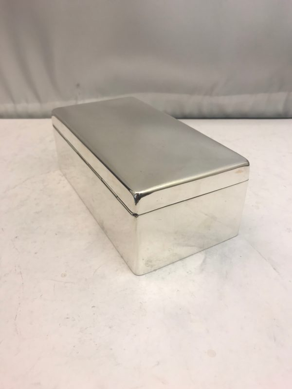 Antique sterling silver box with solid lid 2