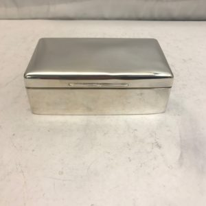 Sterling silver jewellery box