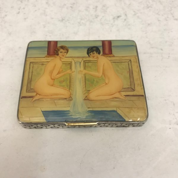 Antique Silver and Enamel box