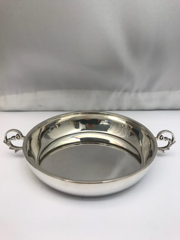 Two handled silver dish made by Asprey