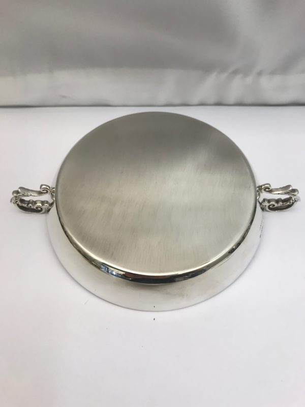 Two handled silver dish made by Asprey 4