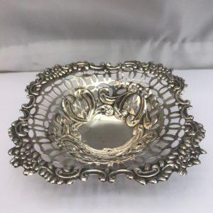 Silver pierced dish
