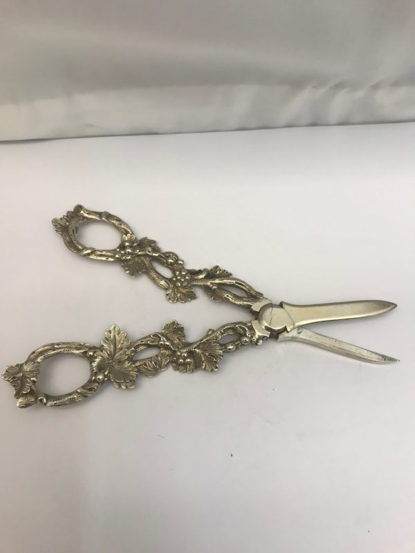 19th century Antique Silver grape scissors, made in 1870.