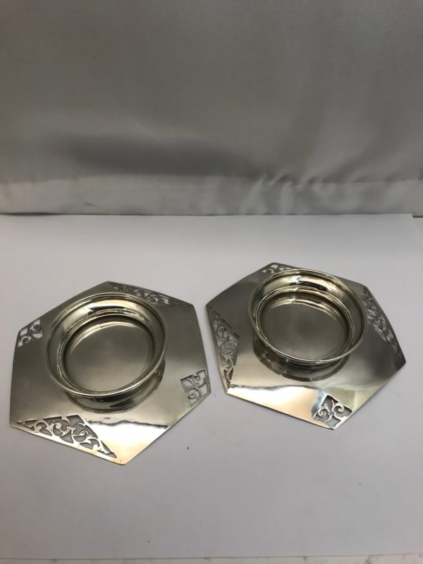 Antique Silver pair of dishes