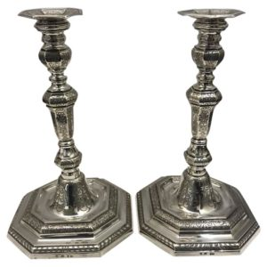 1940s silver candlesticks