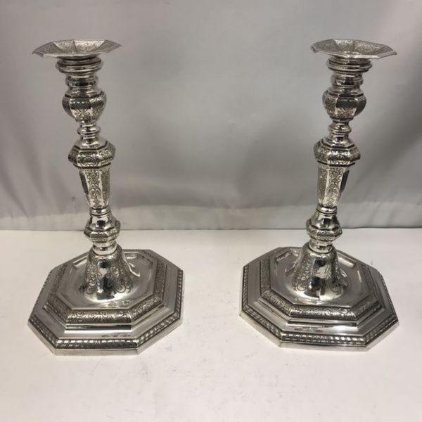 Vintage 1940's Silver Candlesticks | Kalms Antiques
