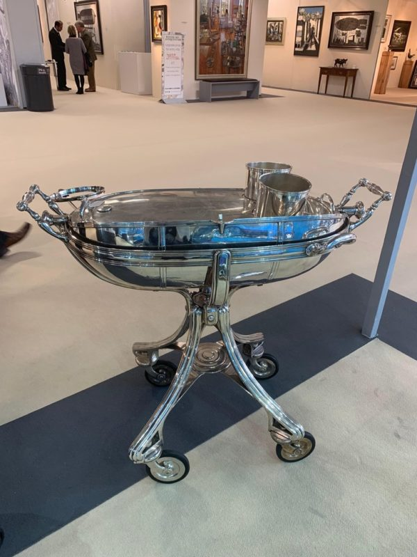 Large Silver Plate Carving Trolley | Kalms Antiques