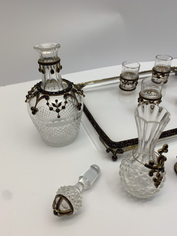 Austrian glass drinking set