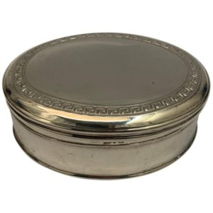 1908 Edwardian English Silver Oval Box | Kalms Antiques