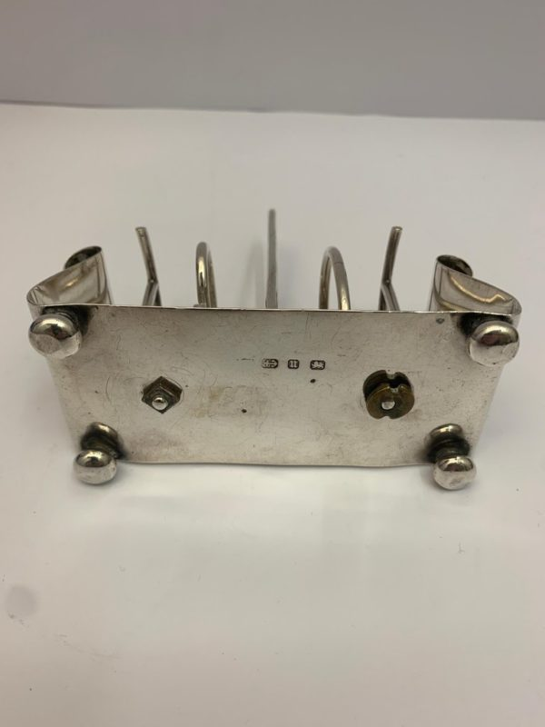 19th Century Silver Toast Rack of Unusual Design