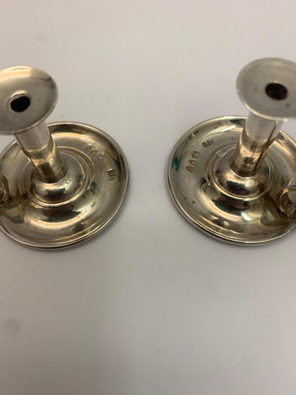 Rare Pair of Victorian Miniature Chambersticks