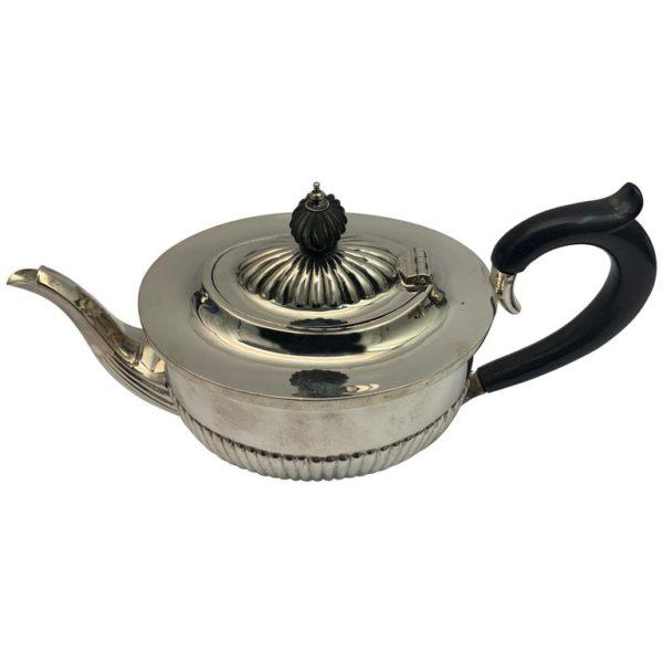 19th Century Silver Deaken and Deaken Teapot   Kalms Antiques