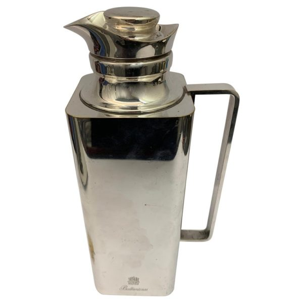 Square Silver Plated Ballentines Thermos Jug | Kalms Antiques