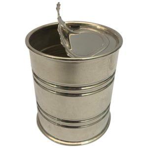 Contemporary Italian Silver 'Tin Can', circa 1990