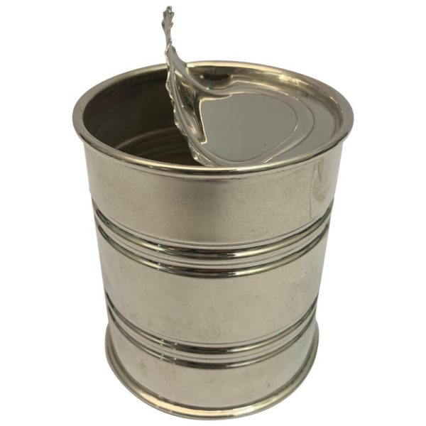 Contemporary Italian Silver 'Tin Can', circa 1990
