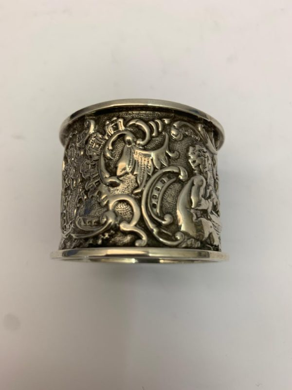 19th Century Silver Napkin Ring - Side 2