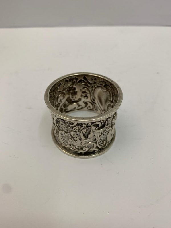 19th Century Silver Napkin Ring - Top View