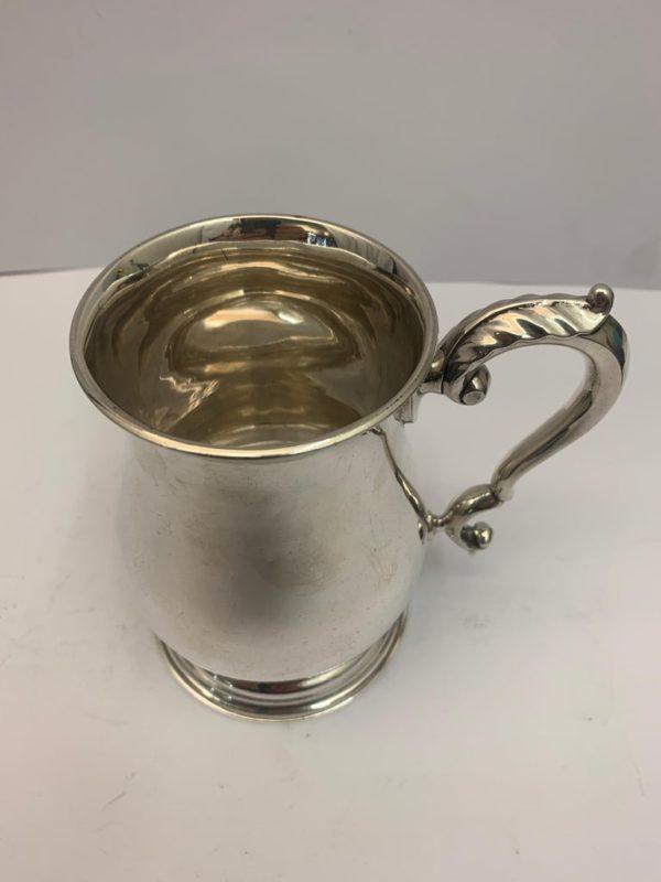 Edwardian Silver Mug by John Edward Wilmot - handle