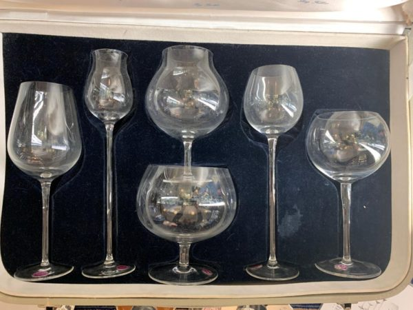 Set of Six Glass Snifters by Chocolaty Frantisek, Chezch Republic - all