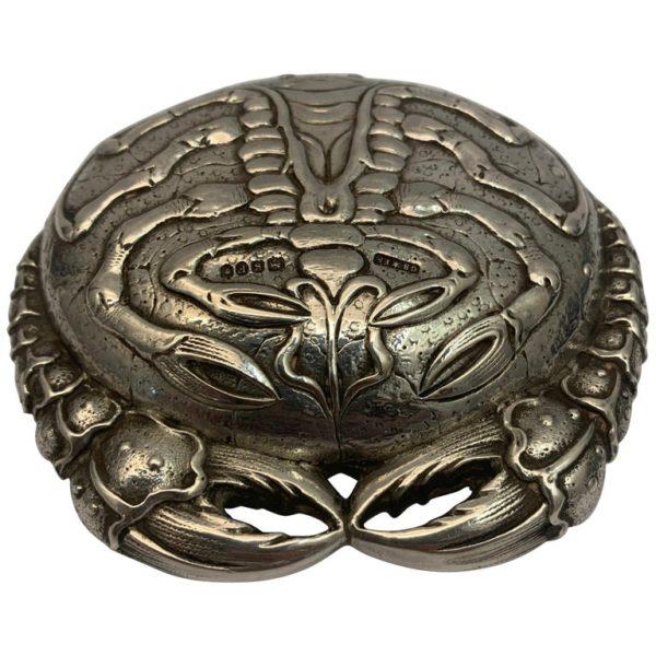 Silver Crab Snuff Box