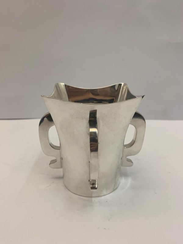 Four Handled Solid Silver Tygs Cup, 1923 - side 2