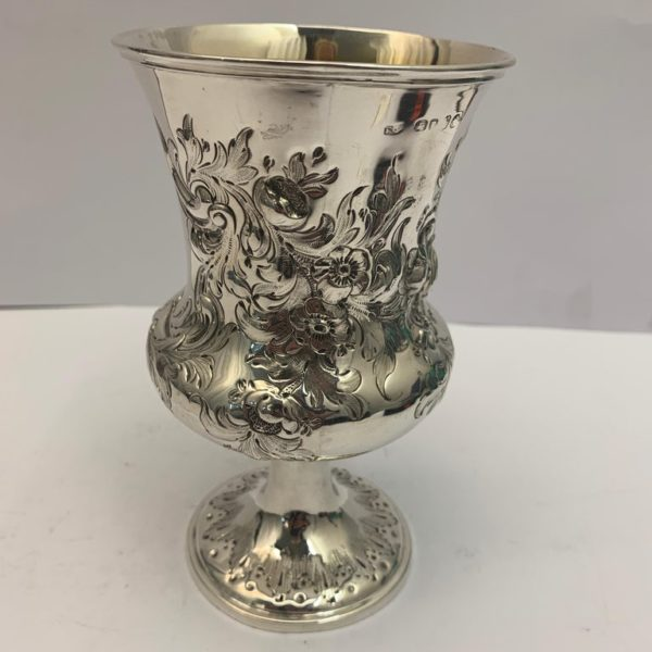 Silver goblet with gilt interior, 1857 - main