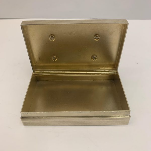 Small Silver Stacking Boxes with Gilt Interior, London, 1919 - open