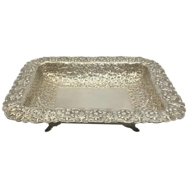 Large American Dish with Scrolling Decoration