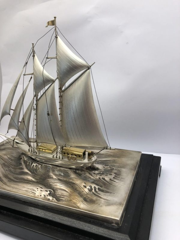 Silver Sailing Boat of Angus 5 left side