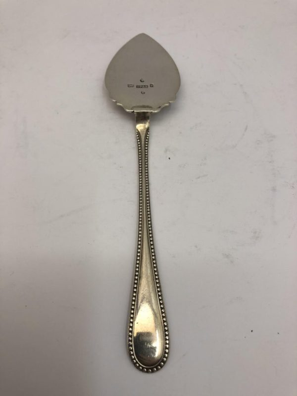 Small Silver Butter Spade with Decorated Border by Thomas Prime - main