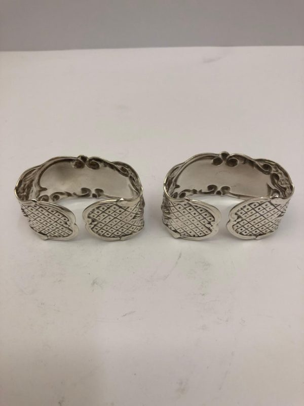 Pair of Silver Plate Napkin Rings - back