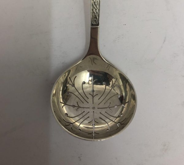 Silver Straining Spoon - top