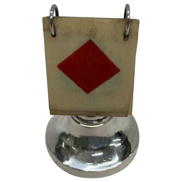 English 1920s Silver Trump Marker