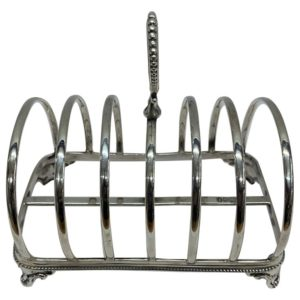 19th Century Silver Toast Rack