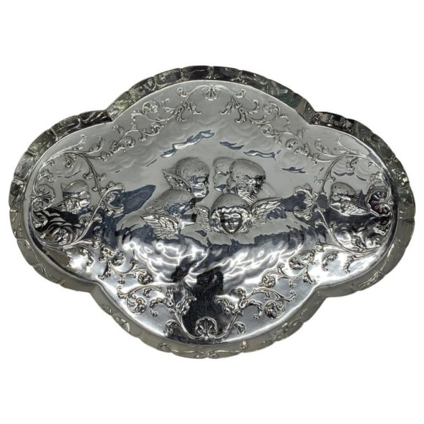 Antique Silver Tray of Unusual Shape, 1903