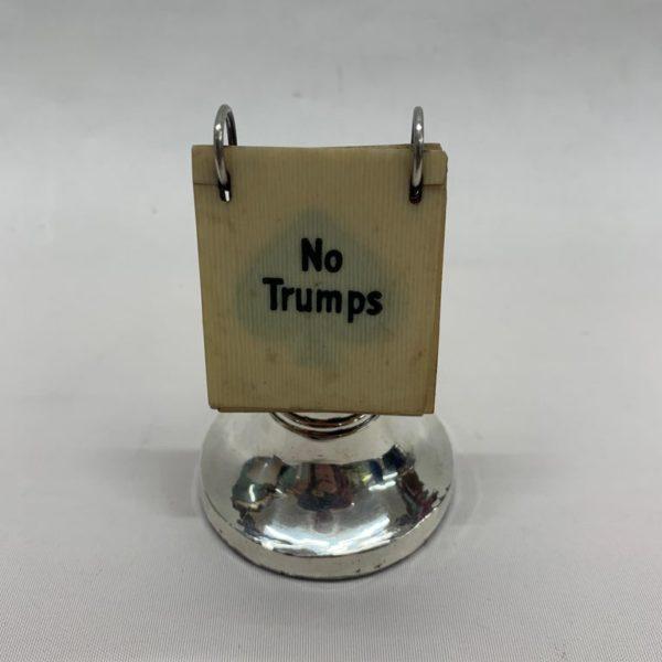 English 1920s Silver Trump Marker - Back