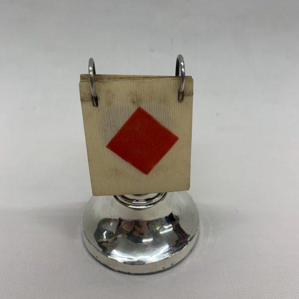 English 1920s Silver Trump Marker - Card