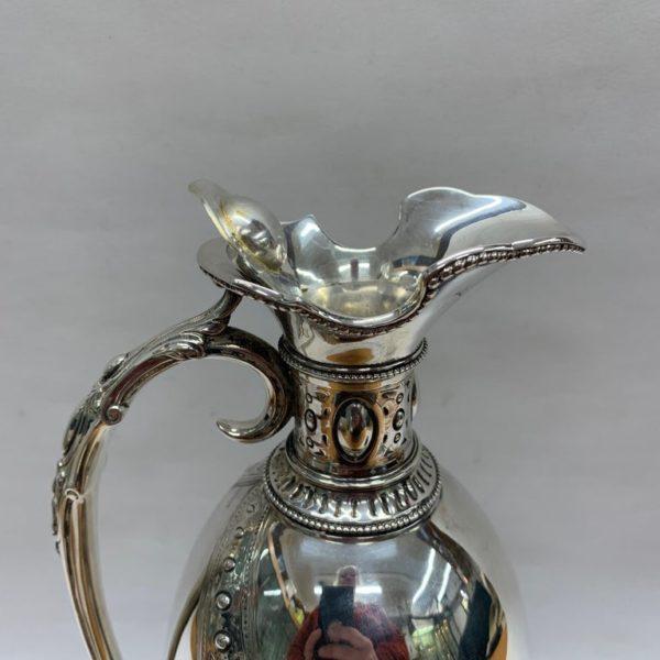19th Century Silver Jug - Top