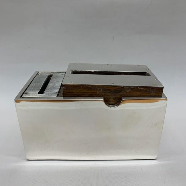 Silver Cigarette and Match Box Made by J Grinsel, England - Open