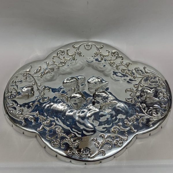 Antique Silver Tray of Unusual Shape, 1903 - Back
